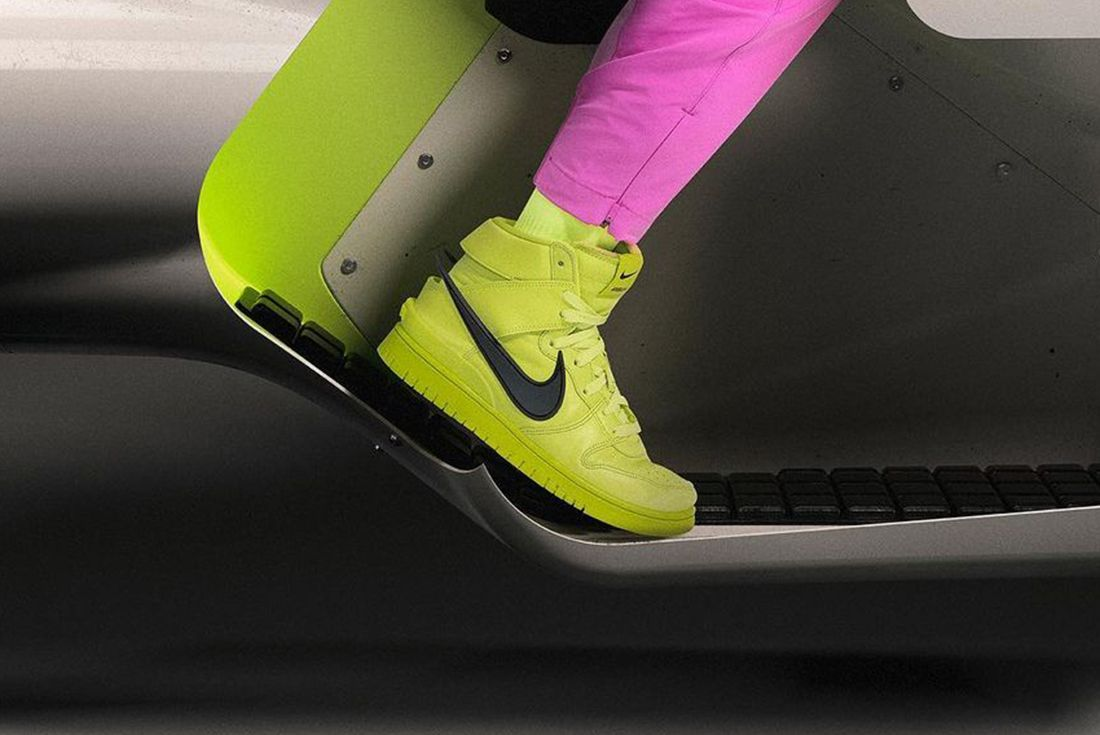 AMBUSH Nike Dunk High Flash Lime