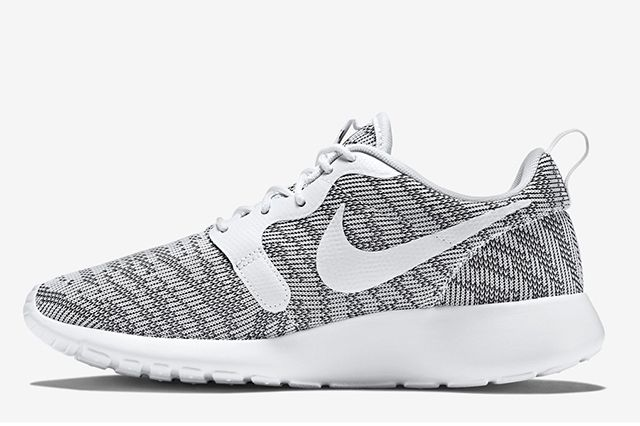 Nike Roshe Run Knit Jacquard White Cool Grey 2