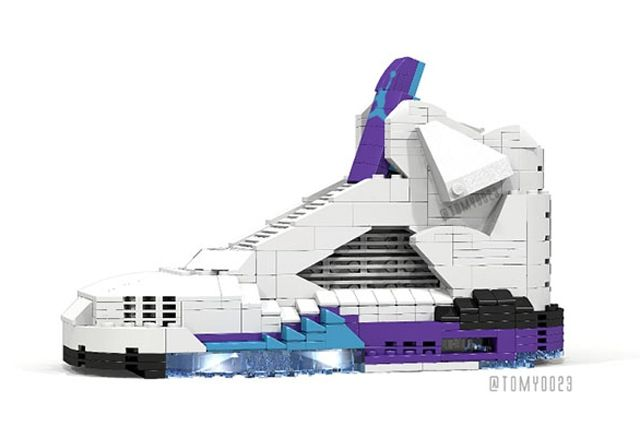 Air Jordan 5 Grape Lego 3