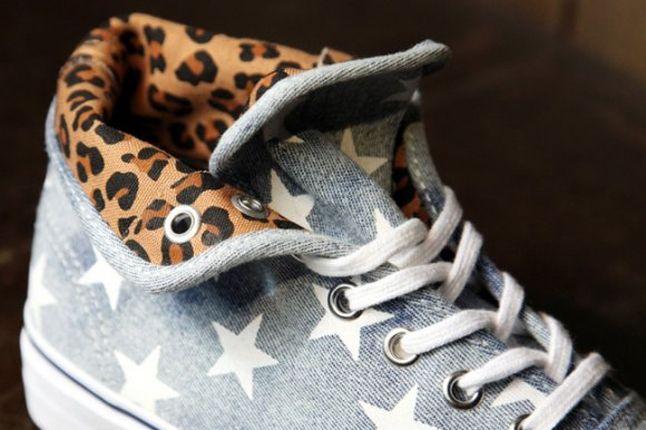 Vans Authentic Wmns Hi Stars Leopard Inner 1