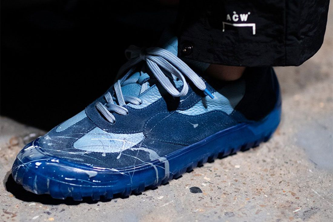 A Cold Wall Ss20 Sneakers Blue Lateral Side Shot