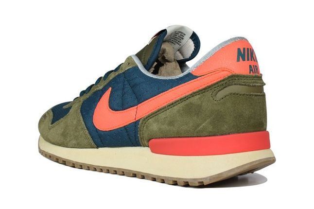 Nike Air Vortex Squadron Green Crimson Heel Profile 1