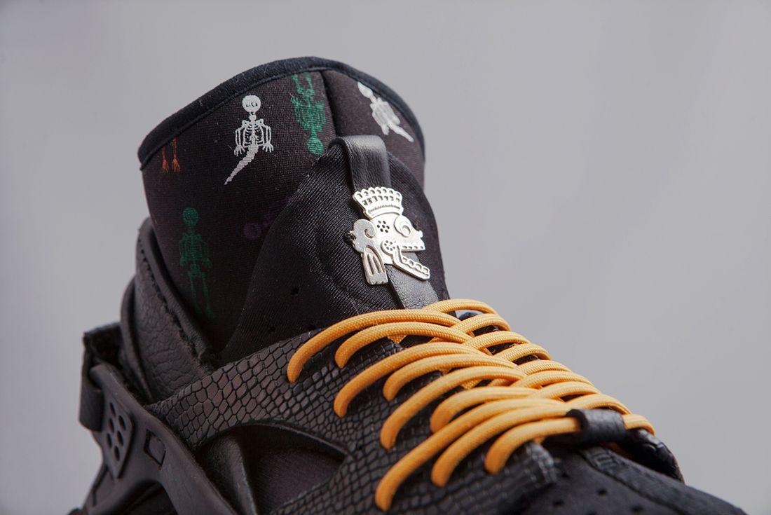 Christian Nahual X Nike Air Huarache Sock Day Of The Dead3