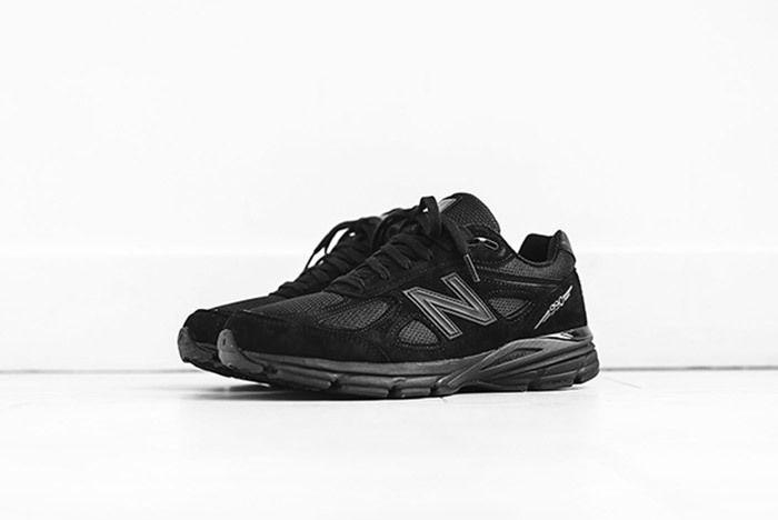 3 New Balance Kith 990 Triple Black Sneaker Freaker