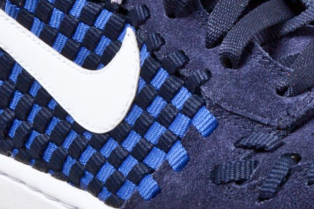 Nike Dunk Woven Checkerboard Blue Detail 1