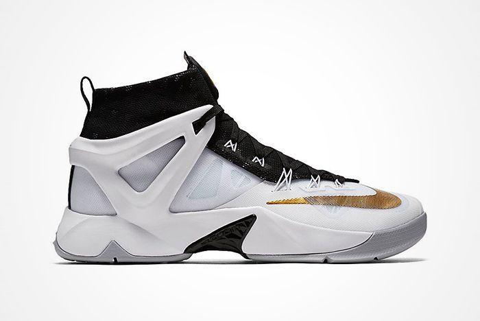 Nike Lebron Ambassador 8 Blackwhitegoldfeature