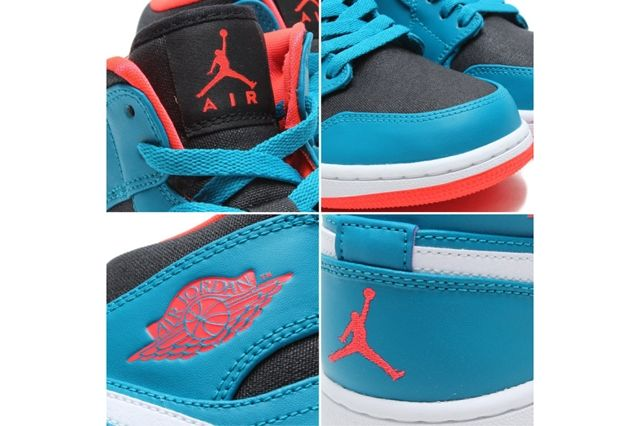 Air Jordan 1 Mid Tropical Teal Infrared 23 1
