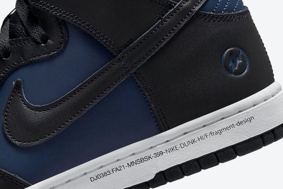 Fragment Design x Nike Dunk High 'Tokyo'