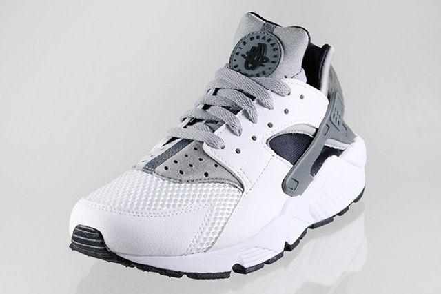Nike Air Huarache White Black Grey 3