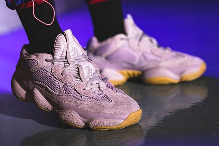 Adidas Yeezy 500 Soft Vision On Foot Right