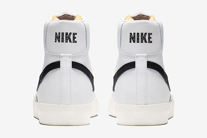Nike Blazer Mid Vintage 77 White Black Bq6806 100 Release Date Heel