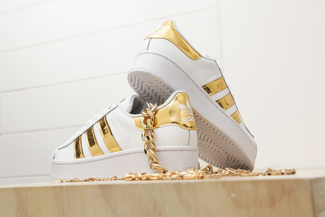 Adidas Metallic Gold Pack Superstar 50Th Anniversary Jd Sports Exclusive Hero1