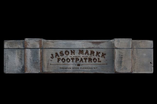 Footpatrol Jason Markk Premium Cleaning Kit Wooden Front 1