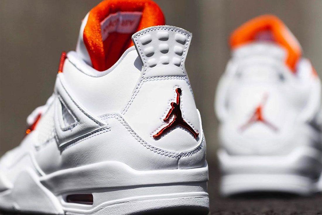 Air Jordan 4 Metallic Orange atmos Release