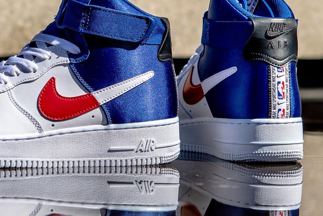 Nike Nba Air Force 1 High Red Blue White Detail
