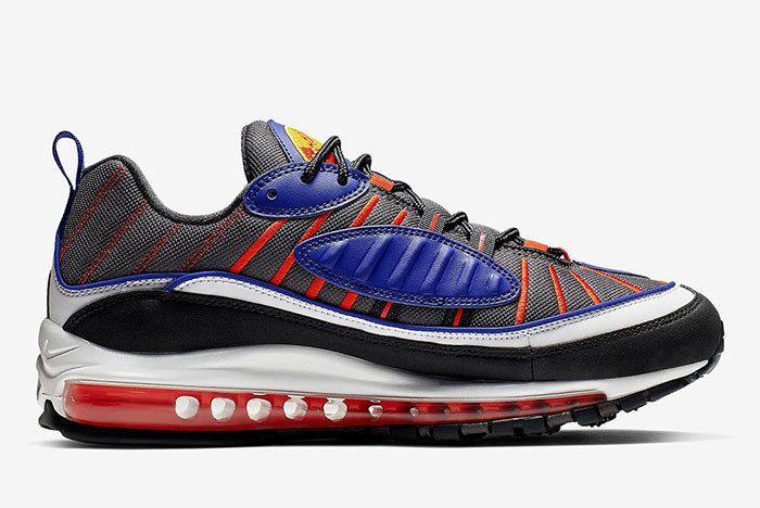 Nike Air Max 98 Grey Blue Orange 640744 012 5