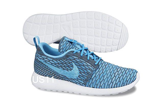 Nike Flyknit Rosherun Blu Gry