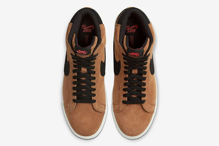 Nike Sb Blazer Mid Light British Tan Top