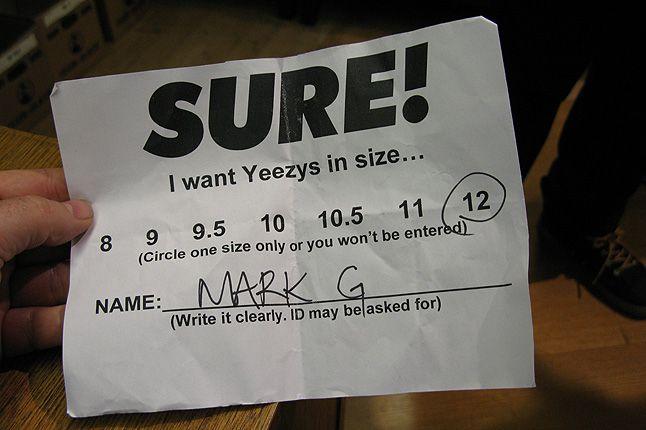 Nike Air Yeezy 1 Sure Store Raffle 13 1