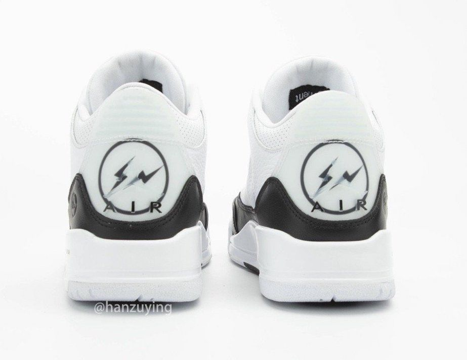 Fragment Design Air Jordan 3 Heel
