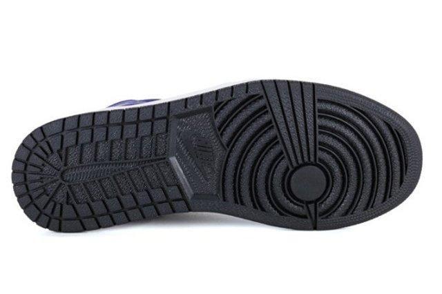 Air Jordan 1 Mid Black Dark Concord 2