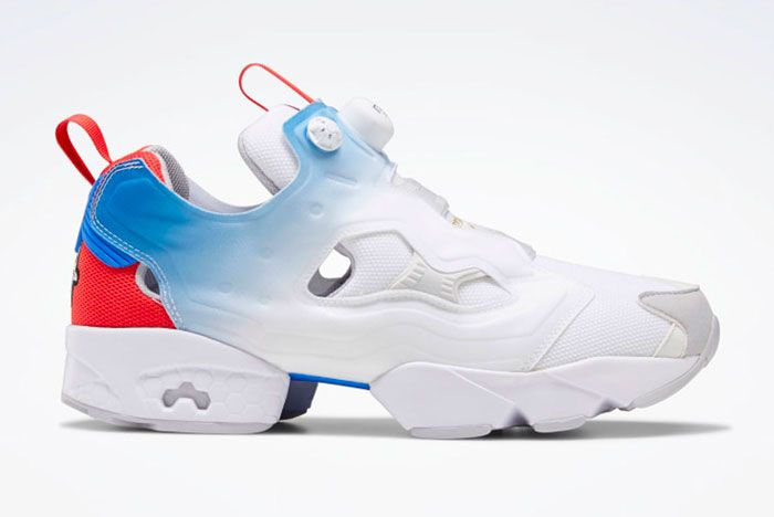 Reebok Instapump Fury Blue Red Right