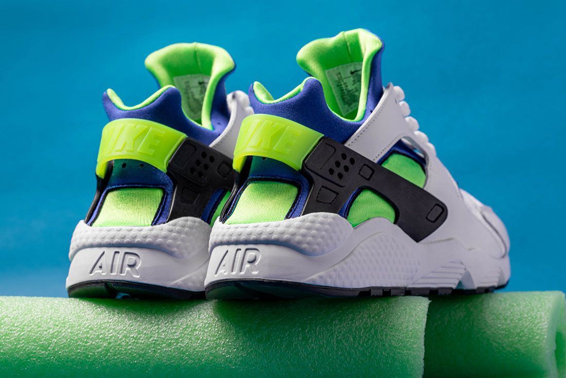 Nike Air Huarache Scream Green 2021 Sneaker Freaker