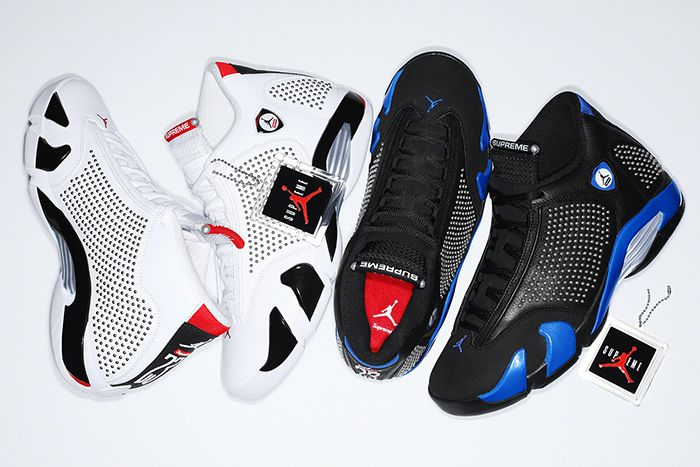 Supreme Air Jordan 14 Official Release Date Both