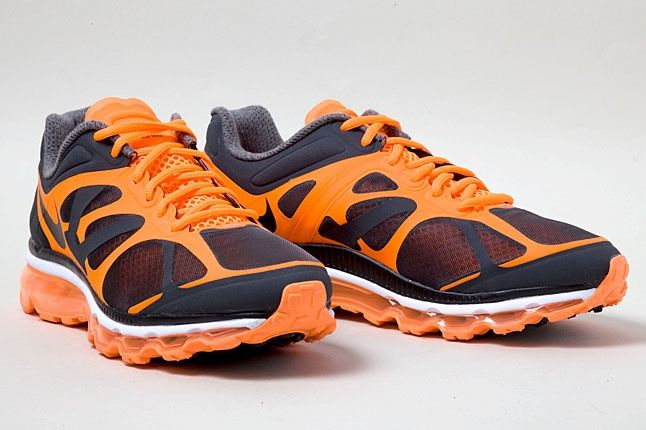 Nike Air Max 2012 Orange Black Pair 1