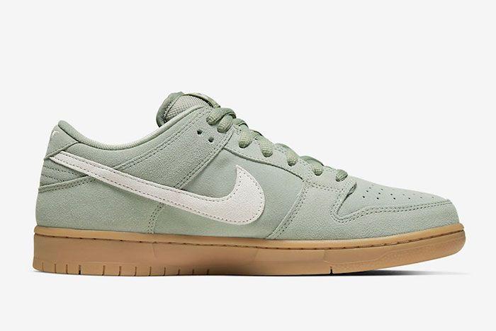 Nike Sb Dunk Low Horizon Green Bq6817 300 Medial
