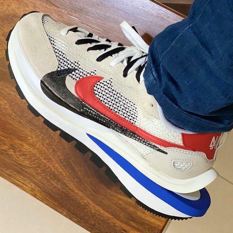 Sacai x Nike VaporWaffle On Foot