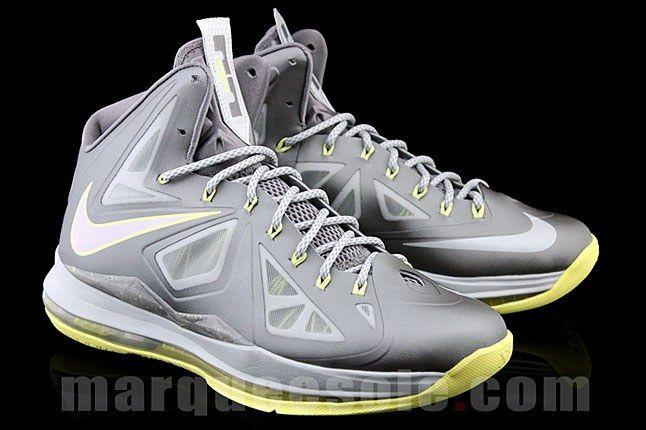 Nike Lebron Silver Canary Yellow Sneaker 1