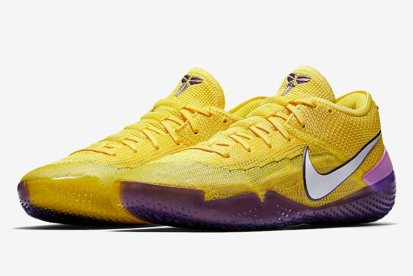 Nike Kobe Ad Nxt 360 Yellow Strike Lakers Aq1087 700 Release Date Sneaker Freaker