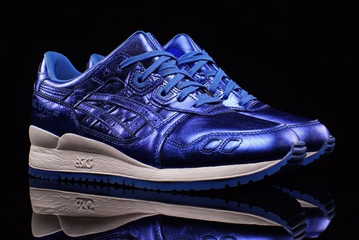 Asics Gel Lyte Iii Wmns Metallic Blue 1