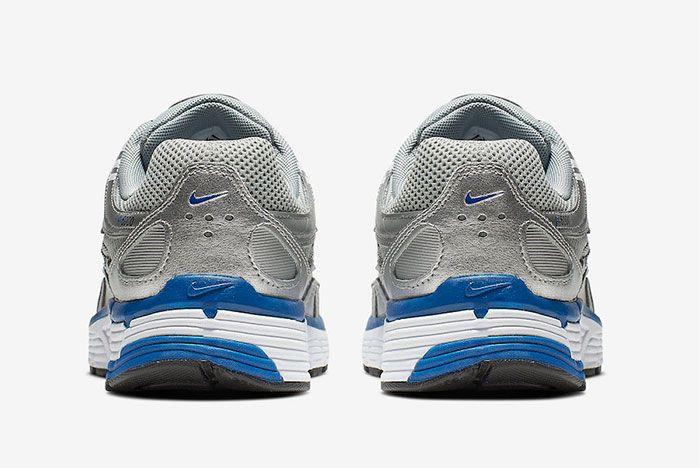 Nike P 6000 Metallic Silver Laser Blue Bv1021 001 Heel Shot 5
