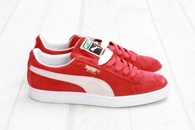 Puma Suede Red White Profile 1
