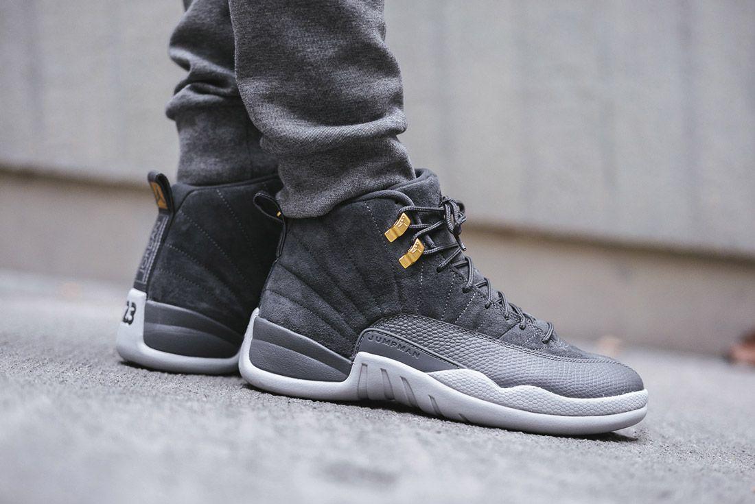 On Foot Air Jordan 12 Dark Grey6