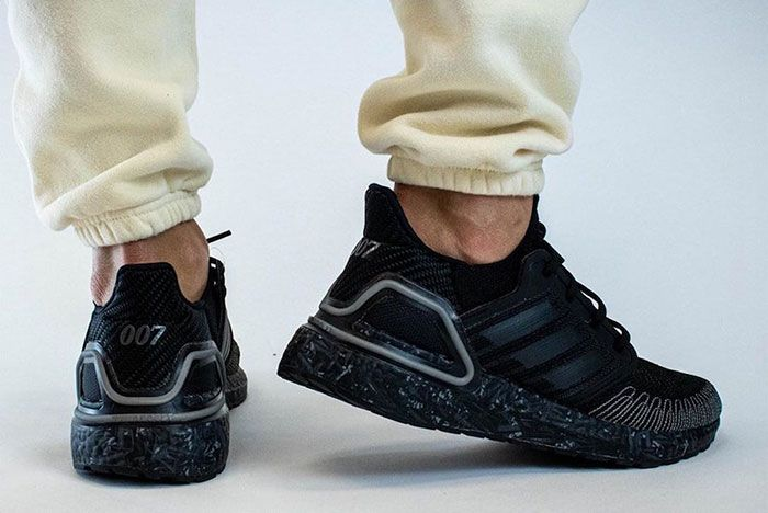 James Bond 007 Adidas Ultra Boost On Foot Lateral Side Shot2