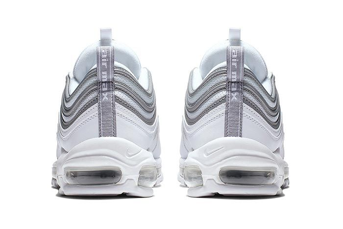 Nike Air Max 97 White Metallic Silver Heels