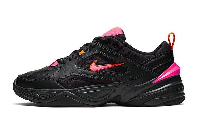 Nike M2K Tekno Black Pink Av4789 008 Medial Side Shot