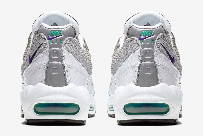 Nike Air Max 95 Grape Snakeskin Ao2450 101 Heels