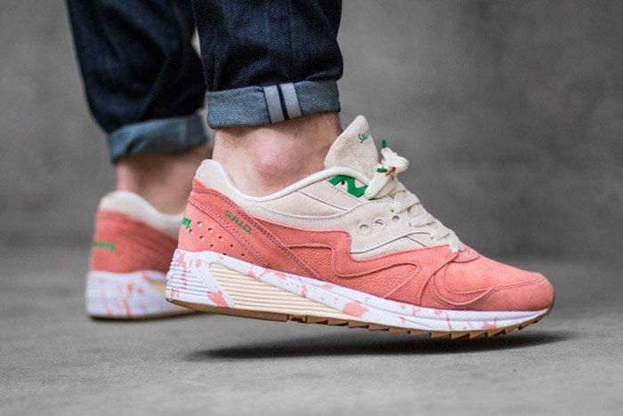 Saucony Grid 8000 Lobster Onfoot 2