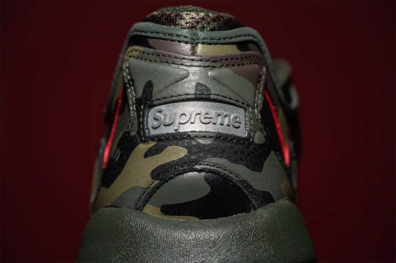supreme x nike air max 96 camo up close