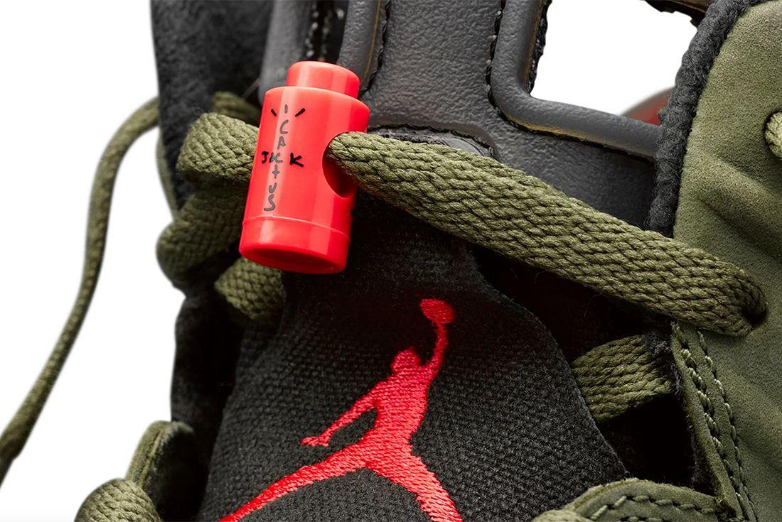 Travis Scott Air Jordan 6 Where To Buy Detail