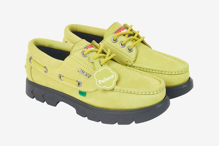 Kickers Palace Boat Shoe Yellow Front Side 1