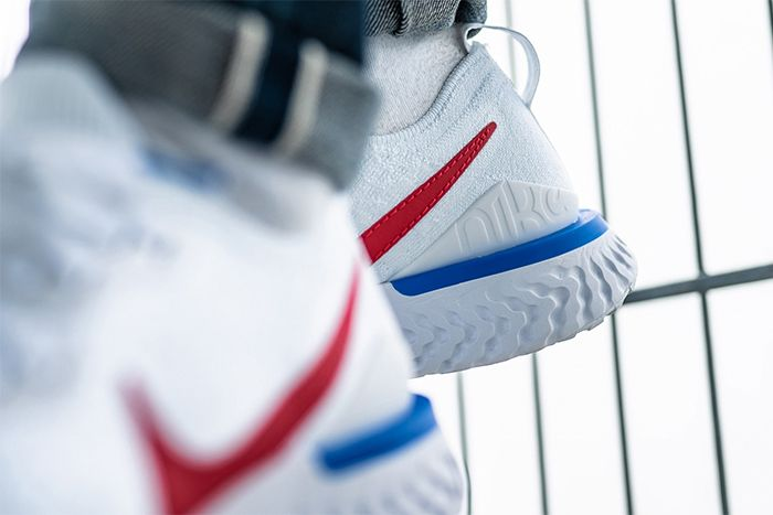 Nike Epic React Flyknit 2 Cortez Cj8295 100 Release Date Closeup