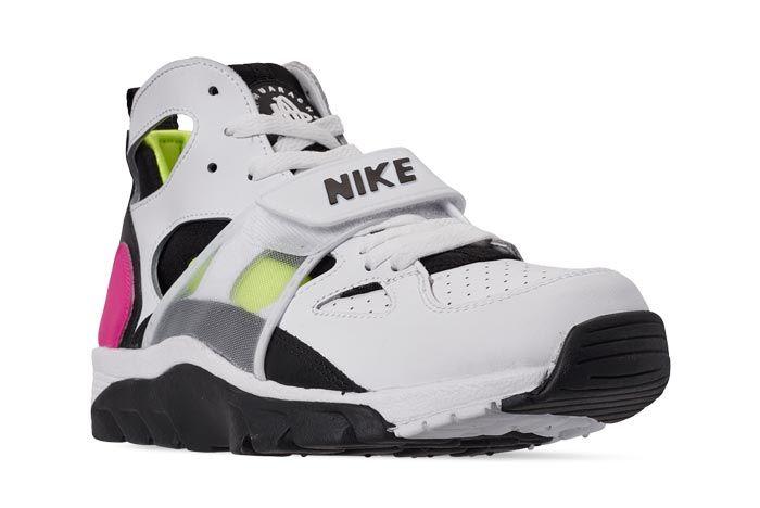 Nike Air Trainer Huarache Black White Laser Fuchsia Volt Front