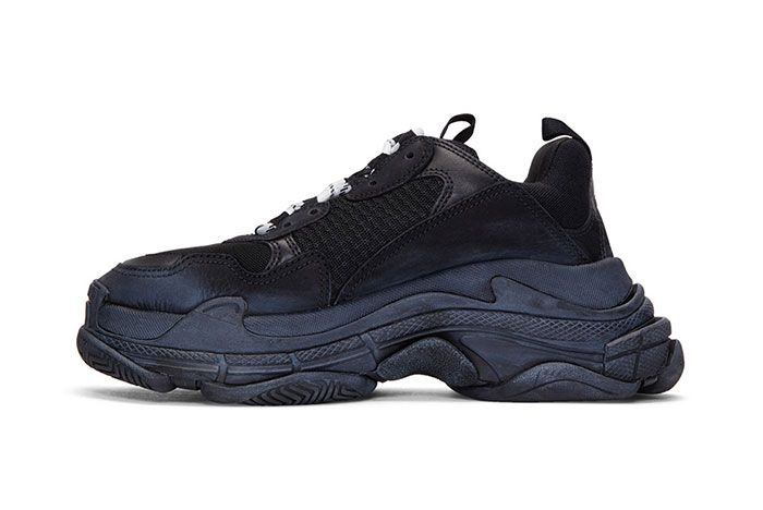 Balenciaga Triple S Sneaker Smudged Distressed Colorway 2 Side