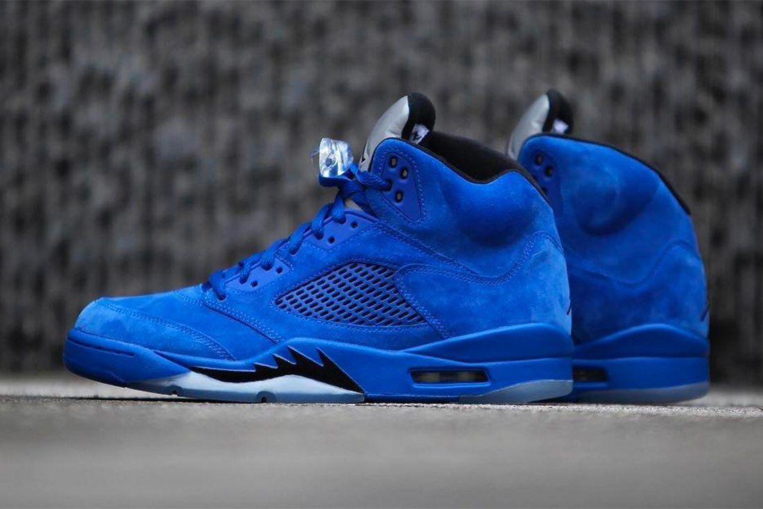 Air Jordan 5 Blue Suede 7