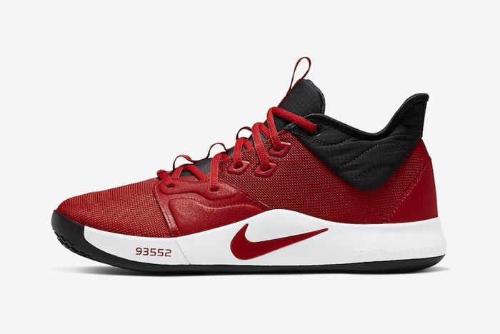 Nike Pg3 University Red Lateral